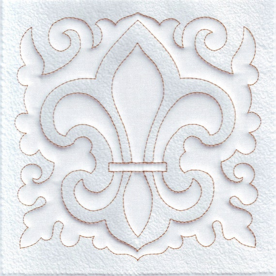 Fleur de Lis Quilt Block Machine Embroidery Design : fleur de lis quilt pattern - Adamdwight.com