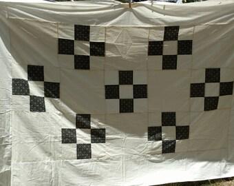 Nine patch quilt top