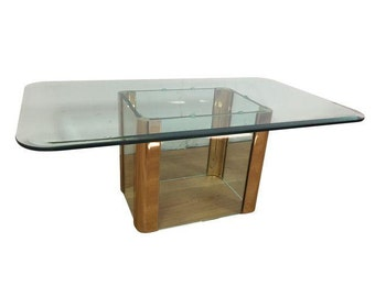 Pace International Brass & Glass Coffee Table