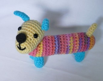 Dilly the Dachshund - Crochet, Amigurumi, dog, puppy
