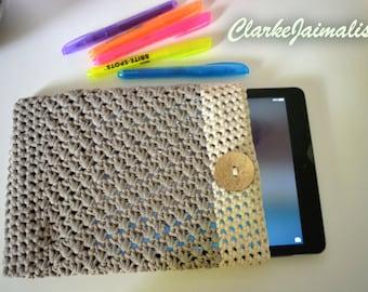 Crochet iPad case, iPad cozy sleeve