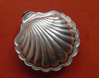 Silver shell serving dish