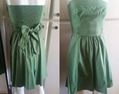 Green Strapless Sundress w 32+