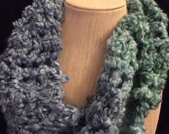 Winter stripes circular scarves