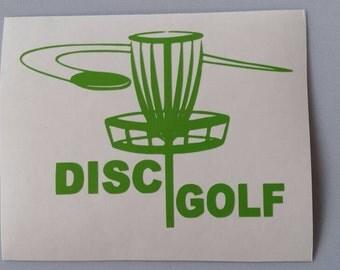 DISC GOLF Vinyl Car Window Decal .. Free Shipping ..  Laptop Sticker GOLFER Frisbee Golf Wine Glass Beer Mug Frame Sports Bottle Organizer