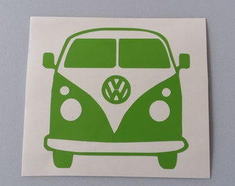 VOLKSWAGEN BUS CAMPER vw Vinyl Car Window Decal . Free Shipping * Yeti Laptop Wine Glass Beer Mug Frame Sports Bottle Organizer Sticker