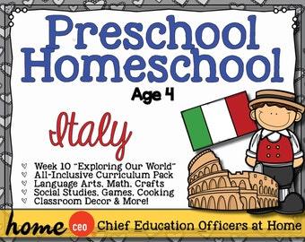 Homeschool Preschool Italy Unit