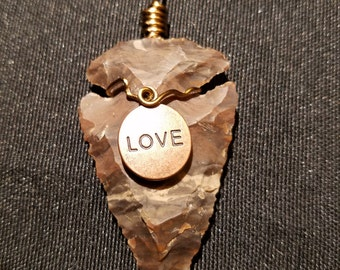 Wire Wrapped Agate Arrowhead