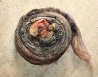 Hand-dyed Tussah silk