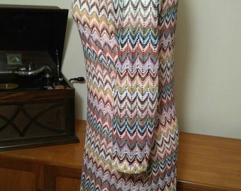 3/4 length sleeve dress. Missoniesque in style.
