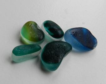 Five Green and Blue Shades Seaglass Multis