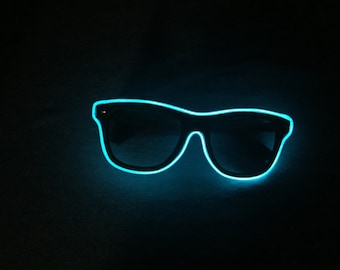 Blue Neon Glasses