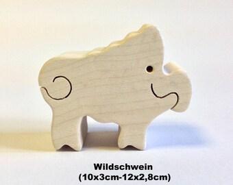 Wooden figure Wild boar / Handmade / Animals / Wooden toys / Forest / Waldorf / Montessori