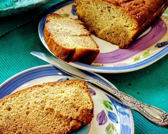 Fresh Banana Bread with optional Cream Cheese Filling