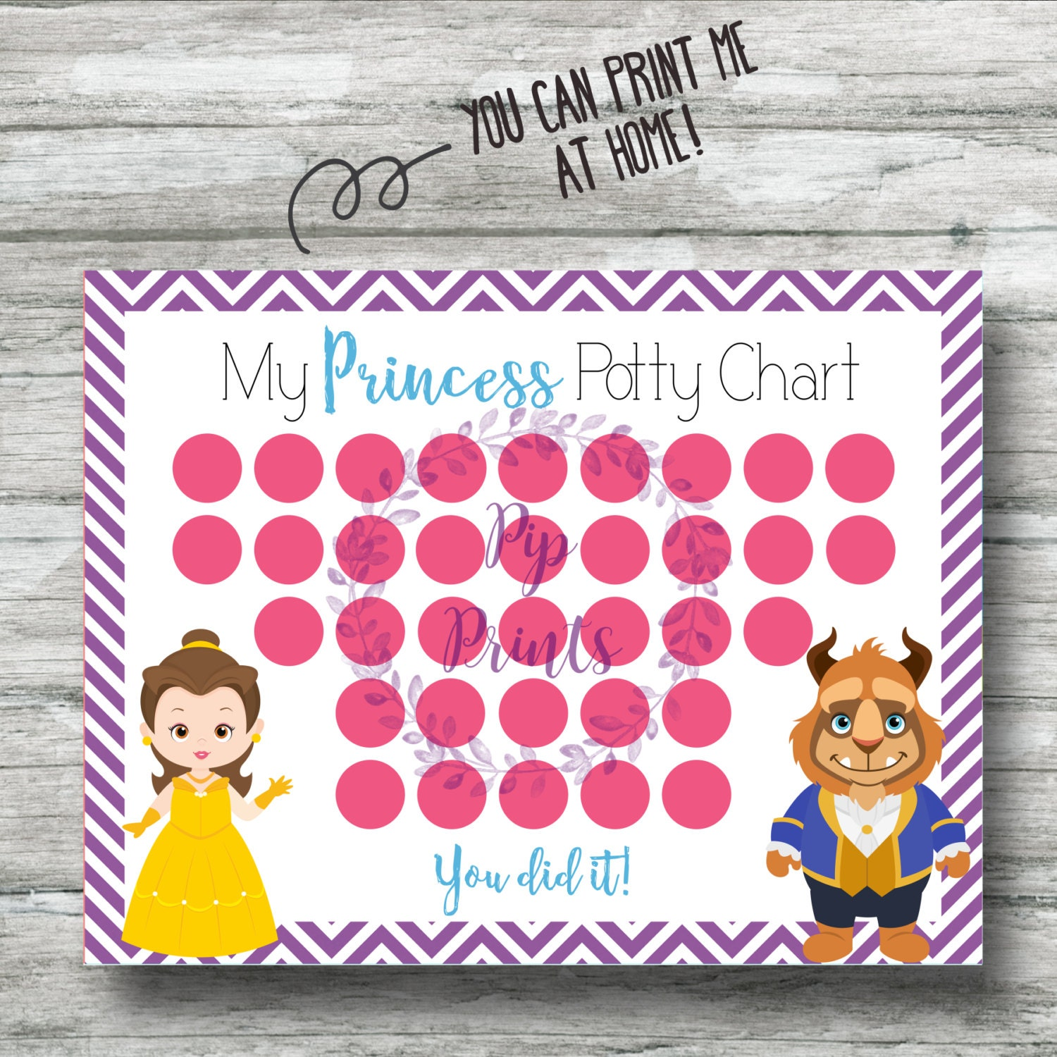 princess potty chart printable beauty and the beast potty training chart instant belle and the beast pdf