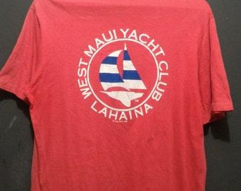 Vintage Hawaii Crazy Shirts ©1980 West Maui Yacht Club Lahaina T-Shirt