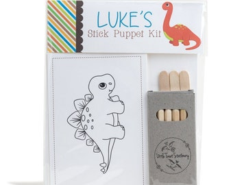 Personalised Dinosaur Stick Puppet Kit