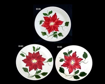 """Blue Ridge DAHLIA 9.25"""" Plate (Buy 1,2,3) Lunch Southern Potteries Hand Painted CANDLEWICK Dinnerware (B13) 8141 8142 8143"""