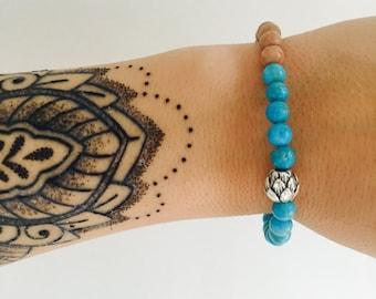 Baby Blue Lotus Wrist-Hugger