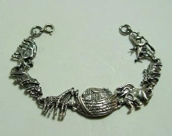 Noah's Ark Bracelet 925 Sterling Silver Ships Free