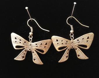 Bronze Bow Earrings