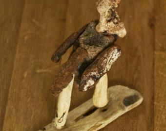 Bird sculpture in wood