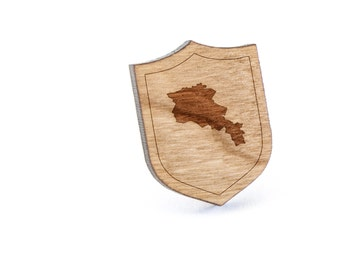Armenia Lapel Pin, Wooden Pin, Wooden Lapel, Gift For Him or Her, Wedding Gifts, Groomsman Gifts, and Personalized