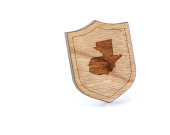 Guatemala Lapel Pin, Wooden Pin, Wooden Lapel, Gift For Him or Her, Wedding Gifts, Groomsman Gifts, and Personalized