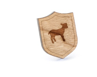 Lamb Lapel Pin, Wooden Pin, Wooden Lapel, Gift For Him or Her, Wedding Gifts, Groomsman Gifts, and Personalized