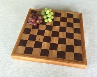 Checker or chess cutting board