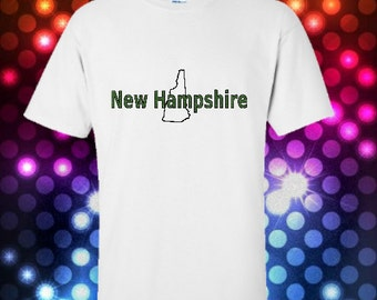 New Hampshire State Souvenir Tshirt - unisex