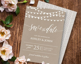 Printable save the date | Etsy