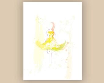 Buttercup Spring Digital Fashion Illustration