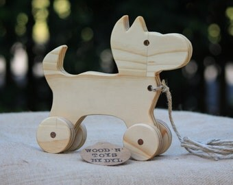 Narla - Handmade Wooden Toy Dog