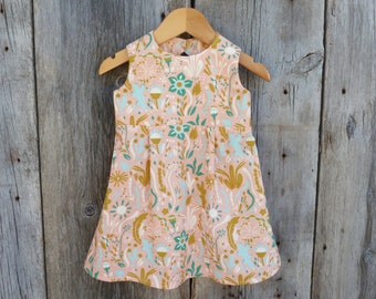 Organic baby dress, Organic baby clothes, Organic baby girl, Baby summer dress, Baby girl clothes, Cactus baby clothes, Bohemian baby dress