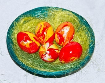 Decorative Easter eggs set of 5 Kunststoffei (Easter Easter decorations Easter decoration)