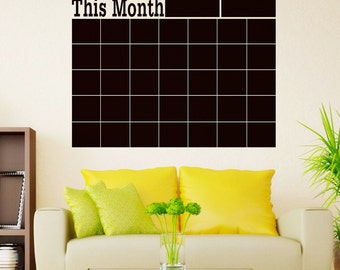 Chalkboard Calendar - FREE SHIPPING !!