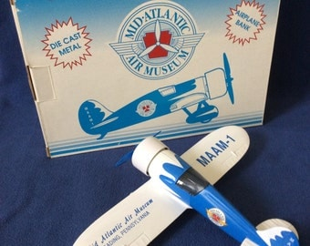 Vintage - Limited Edition - Mid Atlantic Air Museum - AIRPLANE BANK