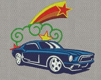 Ford Mustang machine embroidery designs