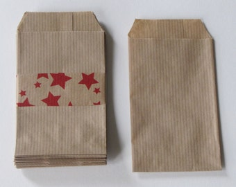 50 /sachets gift wrapping covers natural French 7x12cm