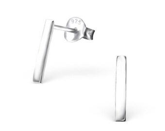 Rectangular Bar Sterling Silver 925 Studs