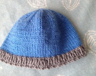 Cute Blue Baby Hat