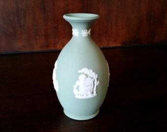 Wedgwood Sage Green Jasperware Bud vase
