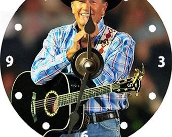 George Strait Country Music Singer Artist CD Clocks