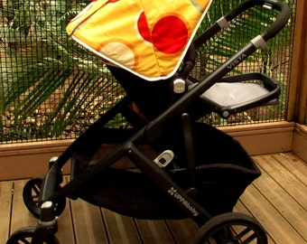 Custom leather canopy hood  for UPPAbaby Vista and Cruz