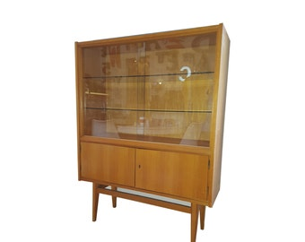 Display cabinet, gas case mid-century living room cabinet 1960s