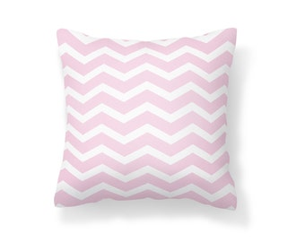 Throw Pillow Chevron, Decroative Pillow, Chevron Pillow, White chevron, pink chevron, white pillow, pink pillow