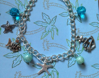 True Blue Sea Side Bracelet