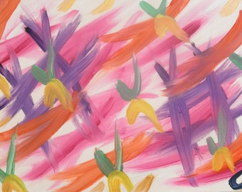 Butterflies, Original abstract art painting