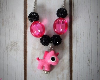 La La Loopsy Pet Inspired Unicorn Chunky Beaded Bubblegum Necklace Party Favor Ball and Chain